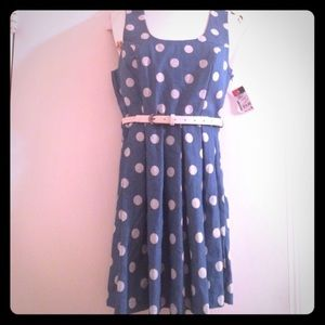 Dresses & Skirts - Polka Dot Dress with Belt